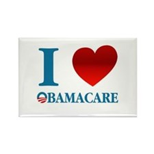 I Love Obamacare Rectangle Magnet