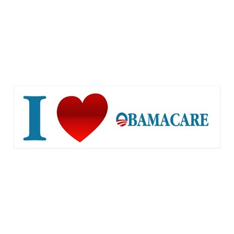 I Love Obamacare 20x6 Wall Decal