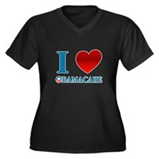 I Love Obamacare Women's Plus Size V-Neck Dark T-S