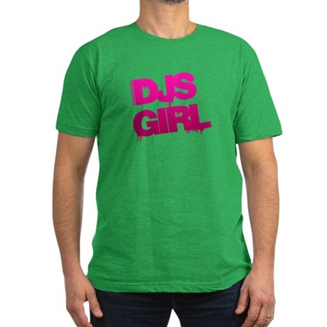 DJs Girl Men's Fitted T-Shirt (dark)