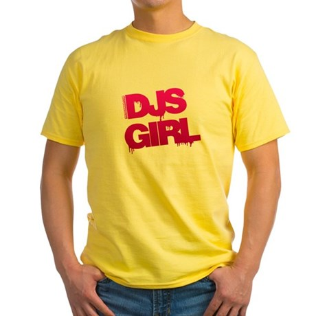 DJs Girl Yellow T-Shirt