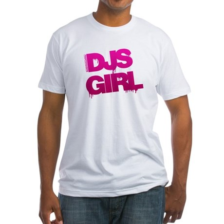 DJs Girl Fitted T-Shirt