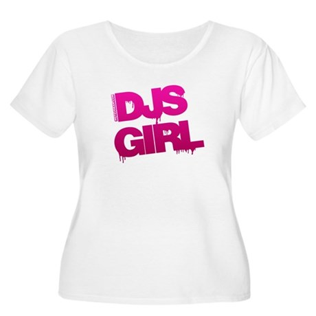 DJs Girl Women's Plus Size Scoop Neck T-Shirt