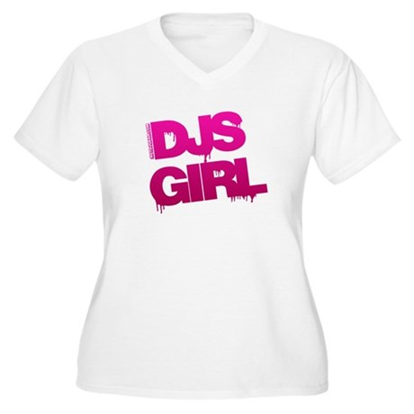DJs Girl Women's Plus Size V-Neck T-Shirt