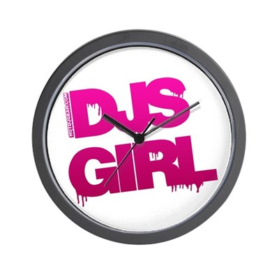 DJs Girl Wall Clock