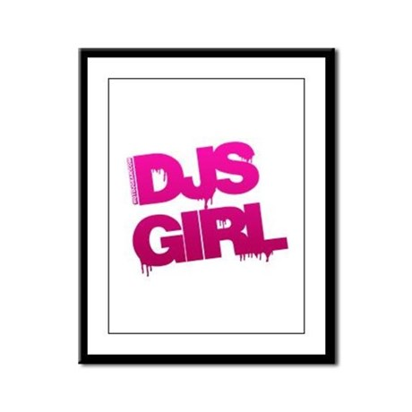 DJs Girl Framed Panel Print