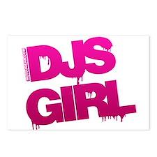DJs Girl Postcards (Package of 8)
