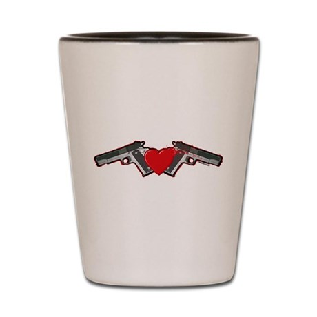 Gun Love Shot Glass