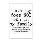 Insane Family Mini Poster Print