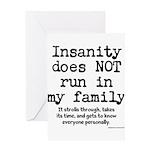 Insane Family Greeting Card