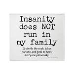 Insane Family Throw Blanket
