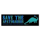 save the apatosaurus Bumper Sticker