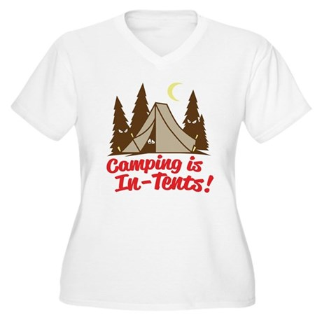 Camping Is In-Tents Women's Plus Size V-Neck T-Shi