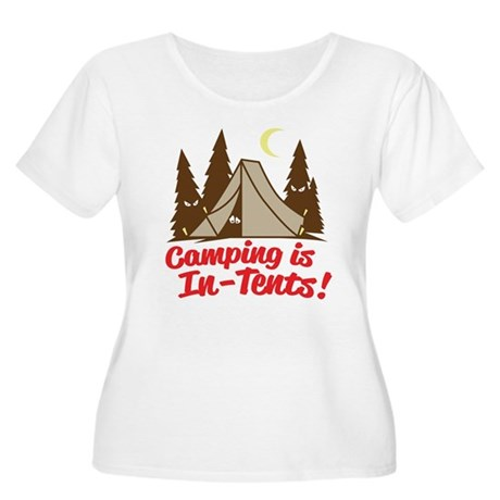 Camping Is In-Tents Women's Plus Size Scoop Neck T