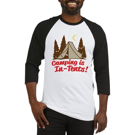 Camping Is In-Tents Baseball Jersey