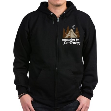 Camping Is In-Tents Zip Hoodie (dark)