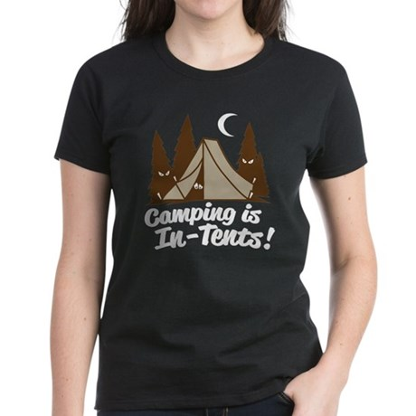 Camping Is In-Tents Women's Dark T-Shirt