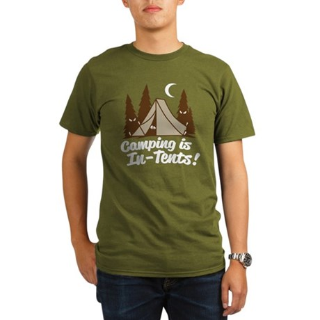 Camping Is In-Tents Organic Men's T-Shirt (dark)