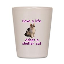 Shelter Cat Shot Glass