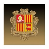 Andorra Coat Of Arms Tile Coaster