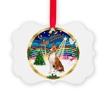 XmasMusic 3/Basenji Picture Ornament