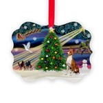 XmasMagic/Basenji #2 Picture Ornament
