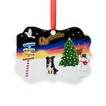 XmasSigns/BorderCollie 4 Picture Ornament