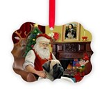 Santa's Bull Mastiff Picture Ornament