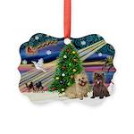 Xmas Magic & 2 Cairns Picture Ornament