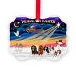 XmasSunrise/5 Cavaliers Picture Ornament