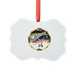 XmasSunrise/Chihuahua #1 Picture Ornament