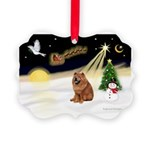 Night Flight/Chow #2 Picture Ornament
