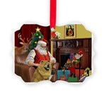 Santa's Chow Chow Picture Ornament