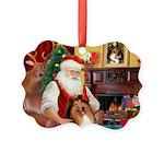 Santa's Collie Picture Ornament