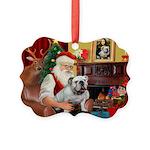 Santa's white EBD Picture Ornament