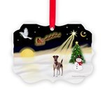 Night Flight/Fox Terrier 5 Picture Ornament