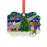 Xmas Magic & Gr Dane Picture Ornament