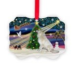 Santa's Great Pyrenees Picture Ornament