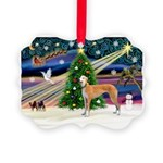 XmasMagic/Greyhound Picture Ornament