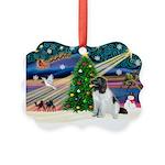 Xmas Magic & Newfie Picture Ornament