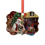 Santa's Norwegian Elk Picture Ornament