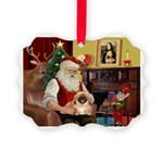 Santa's Pekingese Picture Ornament