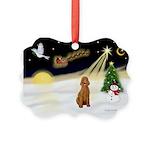 Night Flight/Apricot Poodle ( Picture Ornament