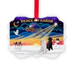 XmasSunrise/2 Std Poodles Picture Ornament