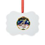 XmasSunrise/Pug Picture Ornament