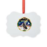 XmasSunrise/Rottweiler Picture Ornament