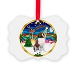 XmasMusic 3/ St Bernard #1 Picture Ornament