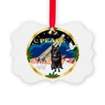 XmasSunrise/Schipperke Picture Ornament