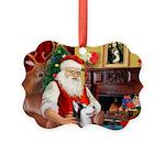 Santa's Sib Husky Picture Ornament