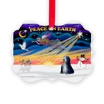XmasSunrise/Tibet Ter Picture Ornament